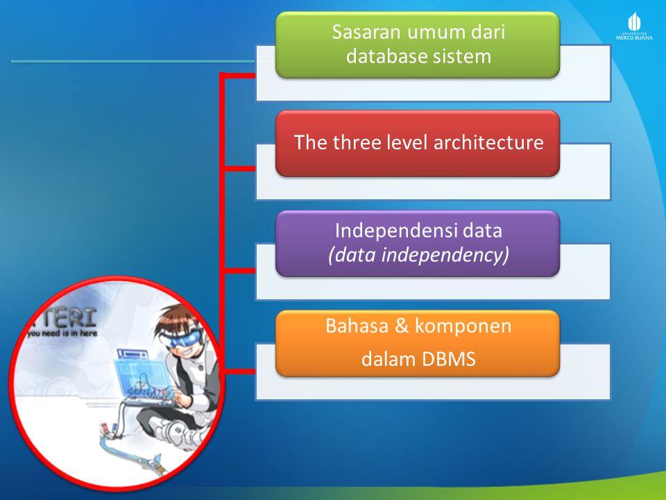 Sasaran umum dari database sistem