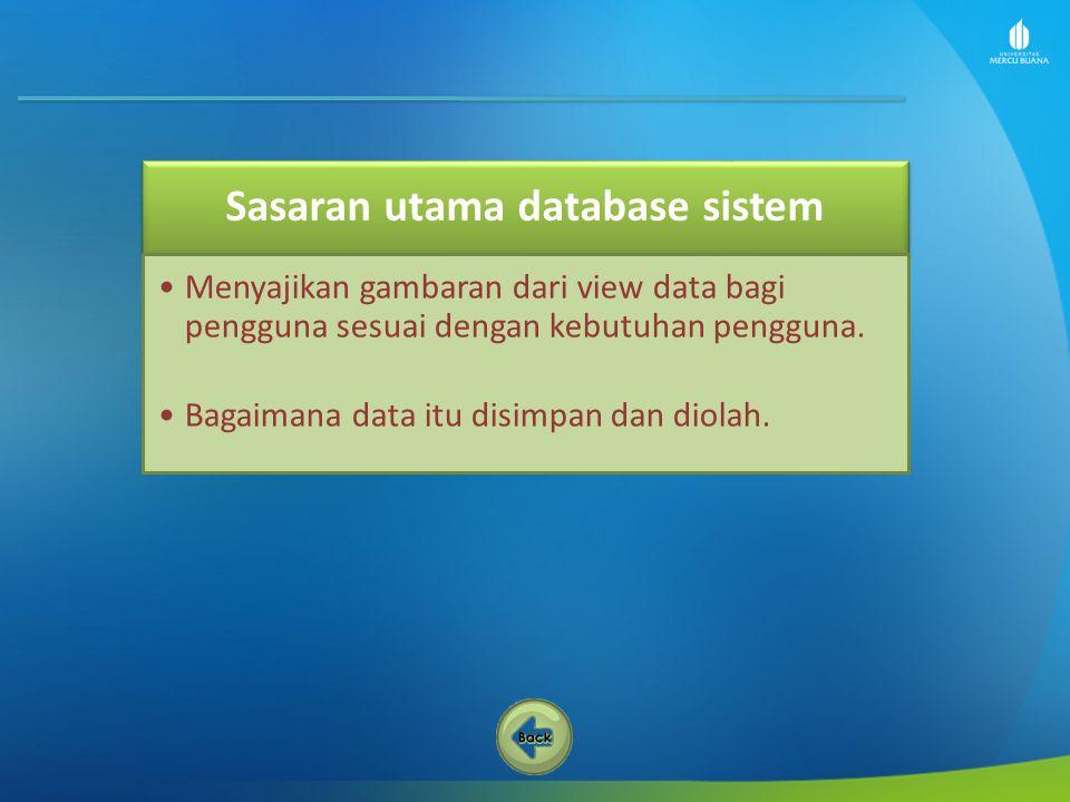 Sasaran utama database sistem