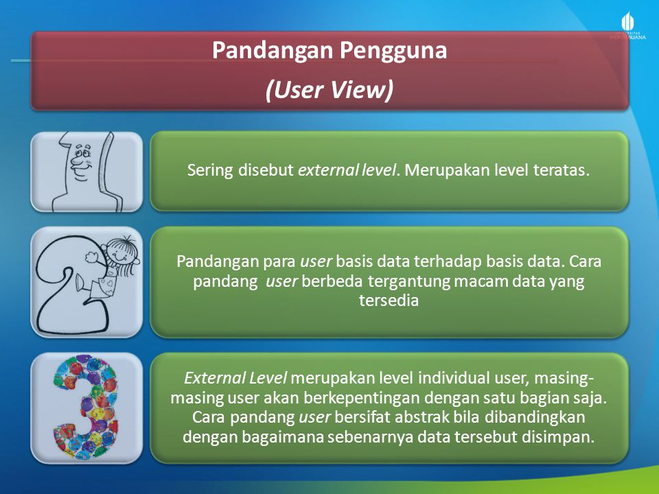 Sering disebut external level. Merupakan level teratas.
