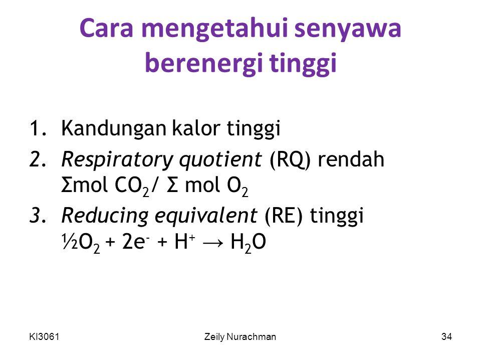 Cara mengetahui senyawa berenergi tinggi