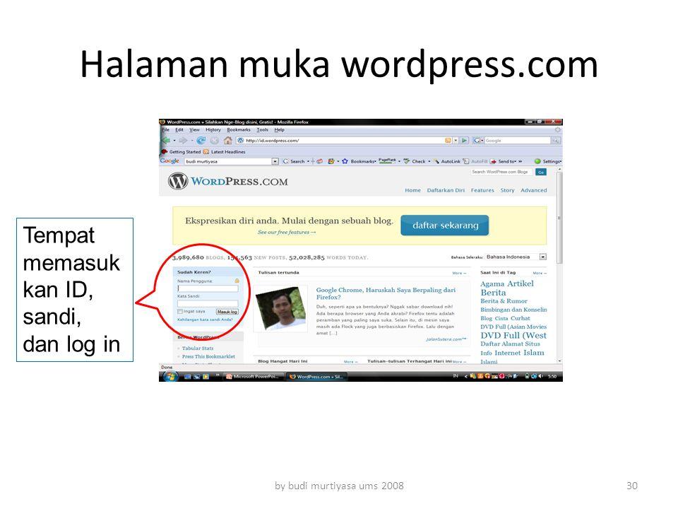 Halaman muka wordpress.com