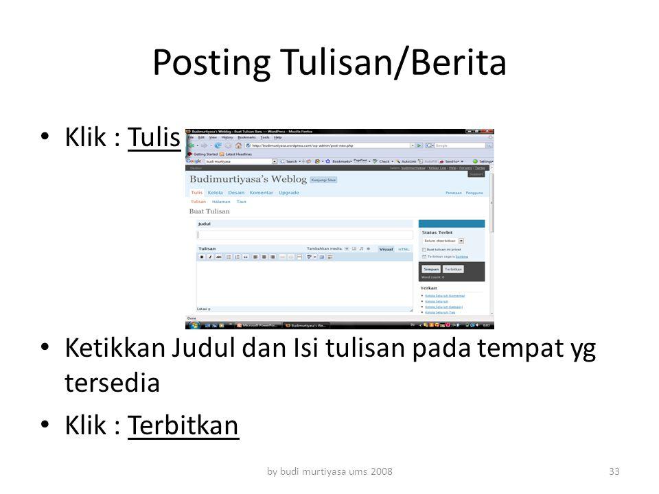 Posting Tulisan/Berita