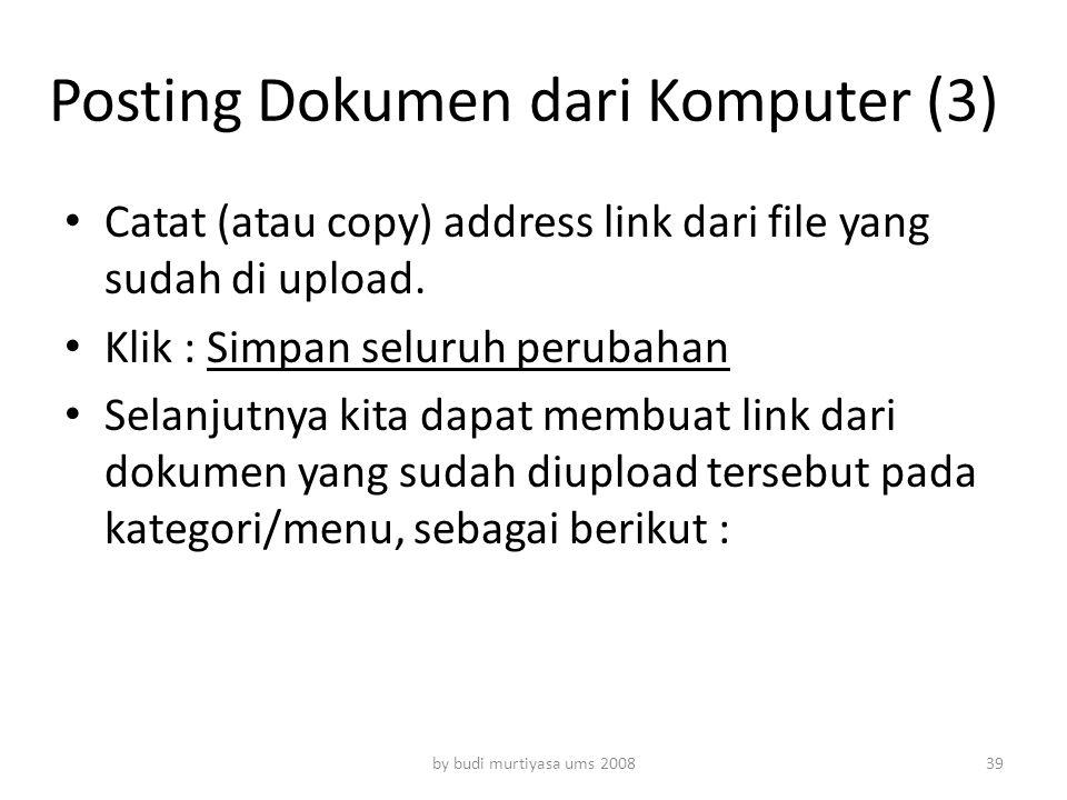 Posting Dokumen dari Komputer (3)