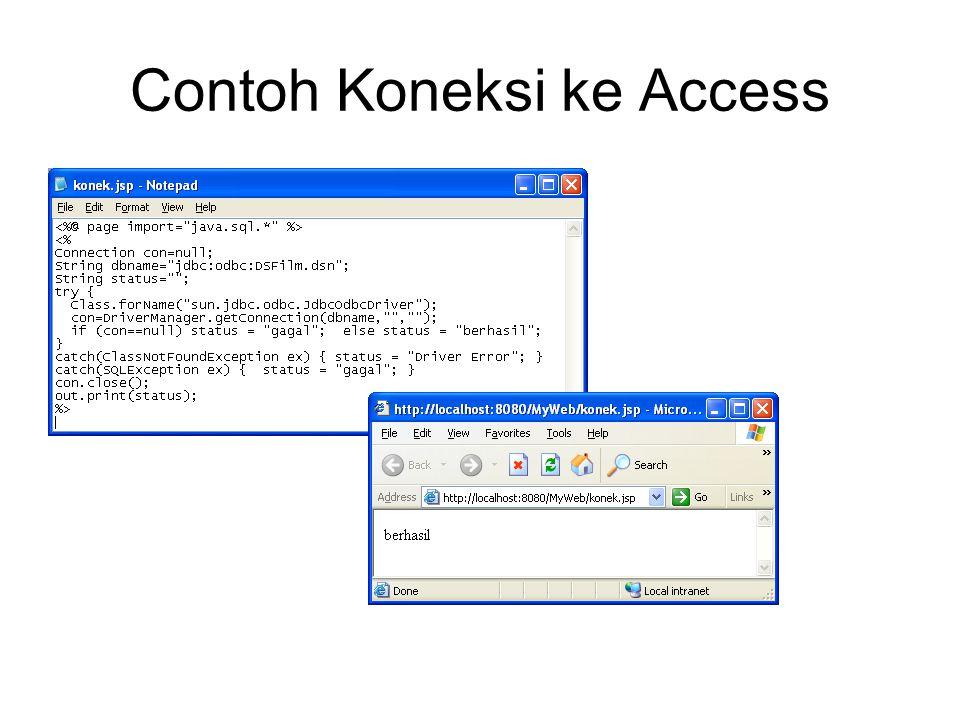 Contoh Koneksi ke Access