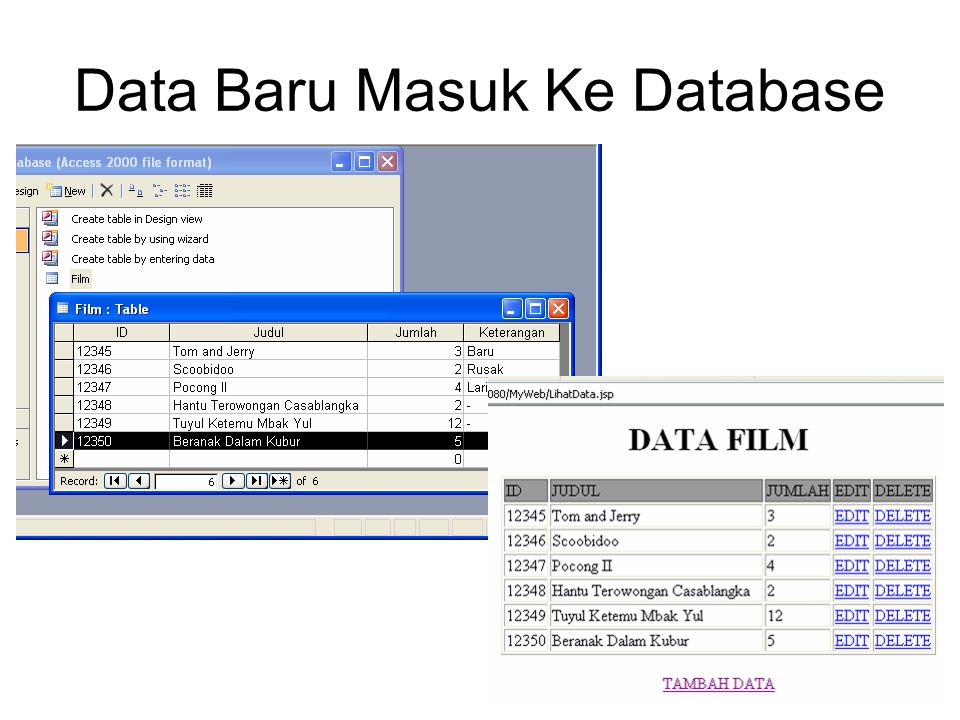 Data Baru Masuk Ke Database