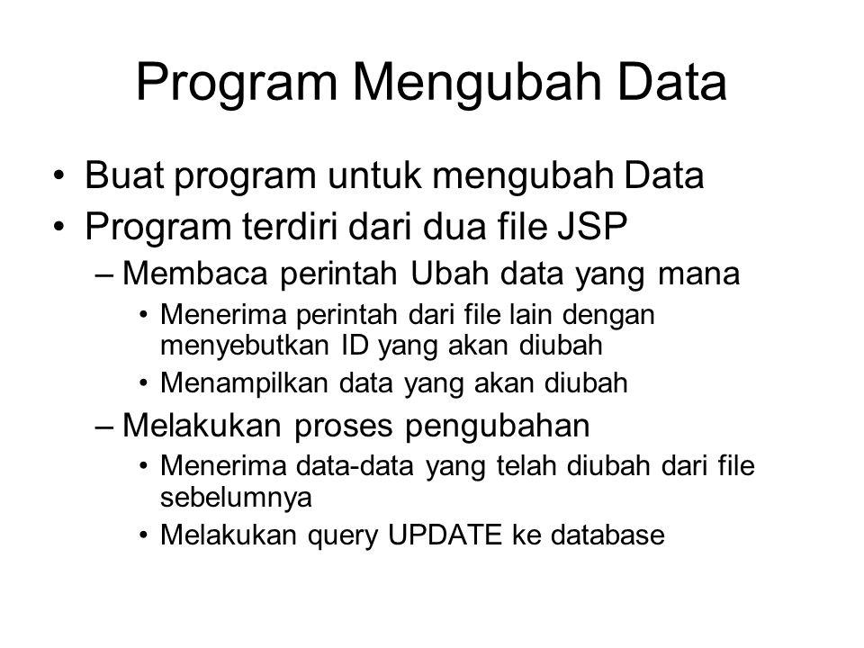 Program Mengubah Data Buat program untuk mengubah Data