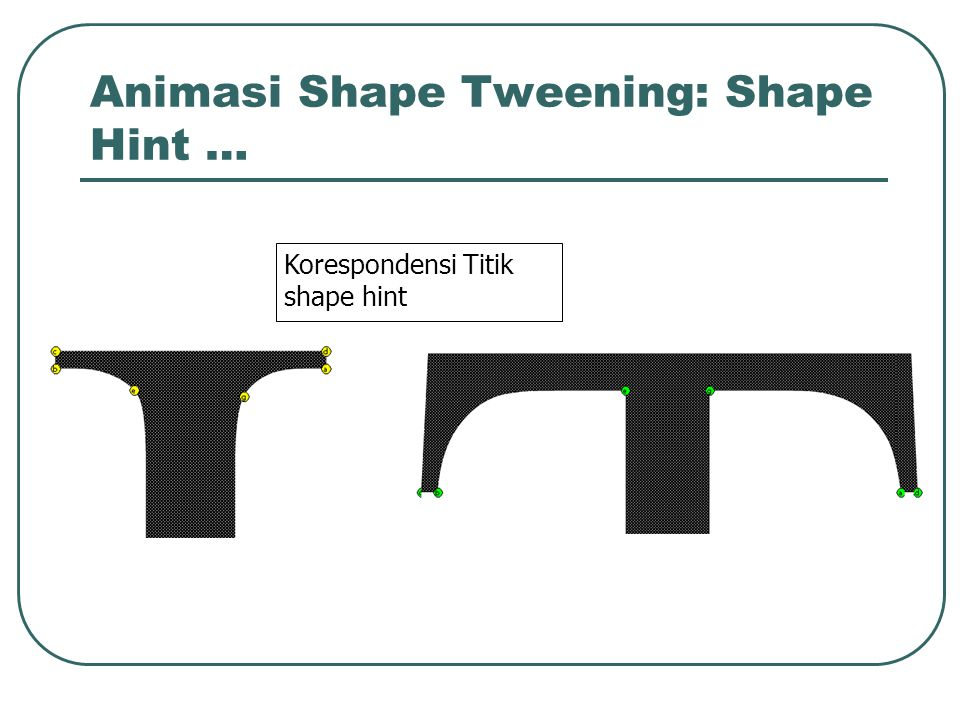 Animasi Shape Tweening: Shape Hint …