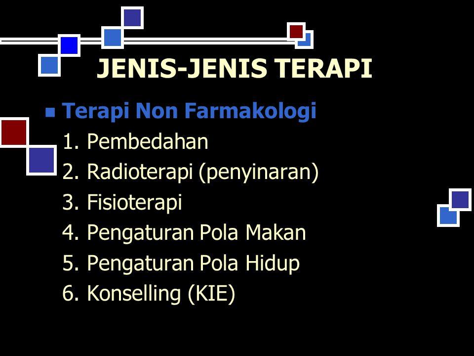 JENIS-JENIS TERAPI Terapi Non Farmakologi 1. Pembedahan