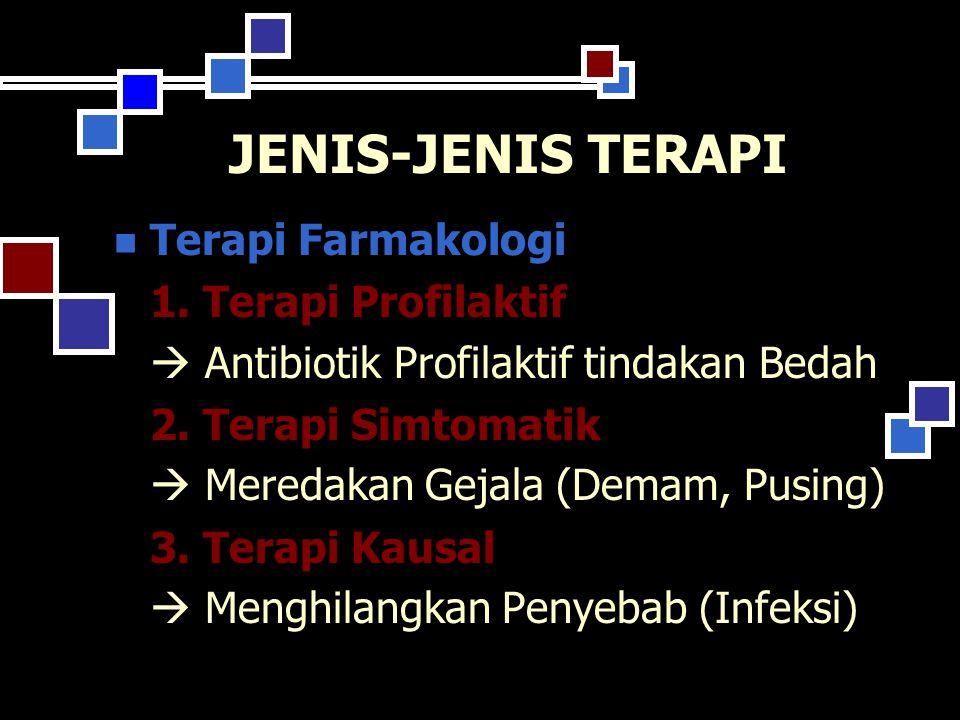 JENIS-JENIS TERAPI Terapi Farmakologi 1. Terapi Profilaktif