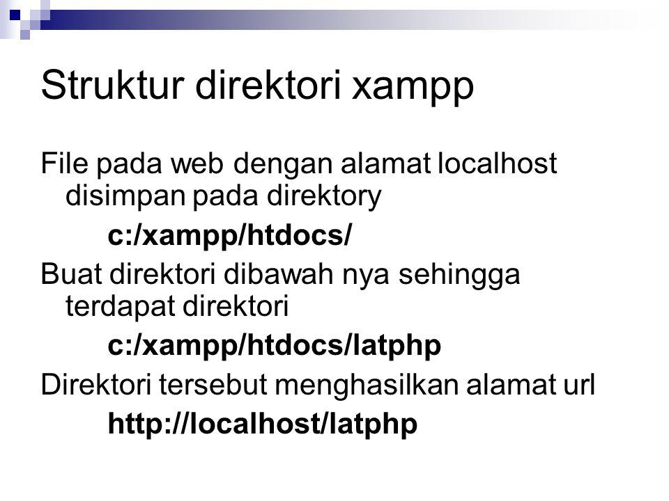 Struktur direktori xampp