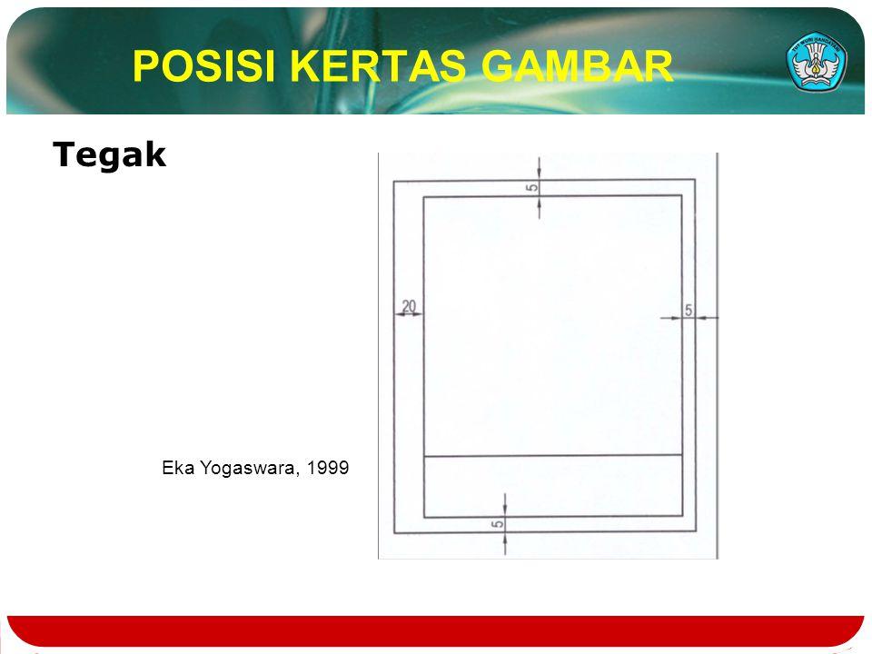 POSISI KERTAS GAMBAR Tegak Eka Yogaswara, 1999