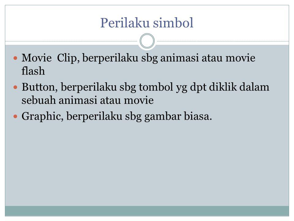 Perilaku simbol Movie Clip, berperilaku sbg animasi atau movie flash