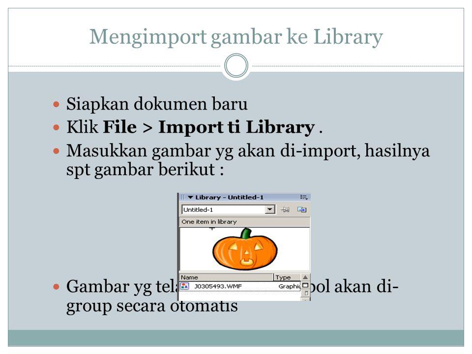 Mengimport gambar ke Library