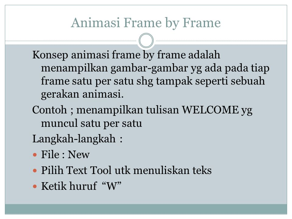 Animasi Frame by Frame