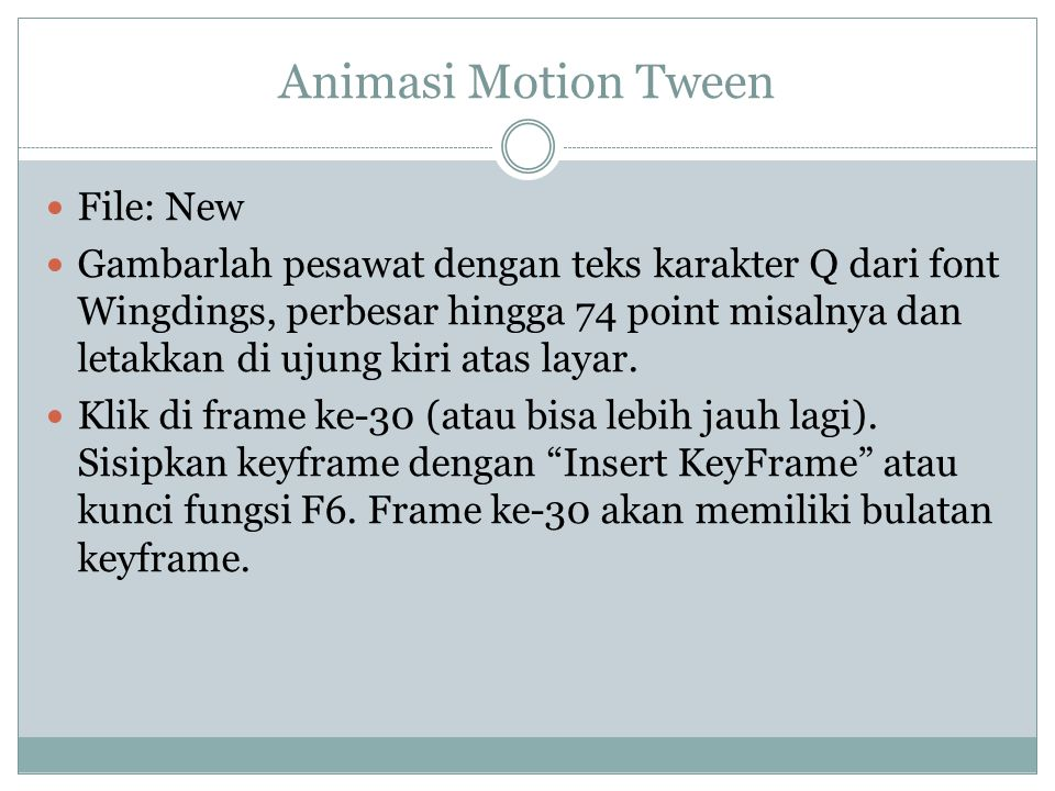 Animasi Motion Tween File: New