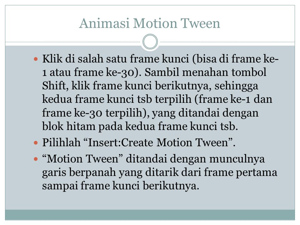 Animasi Motion Tween