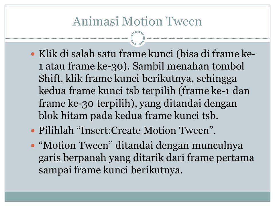 Animasi Motion Tween