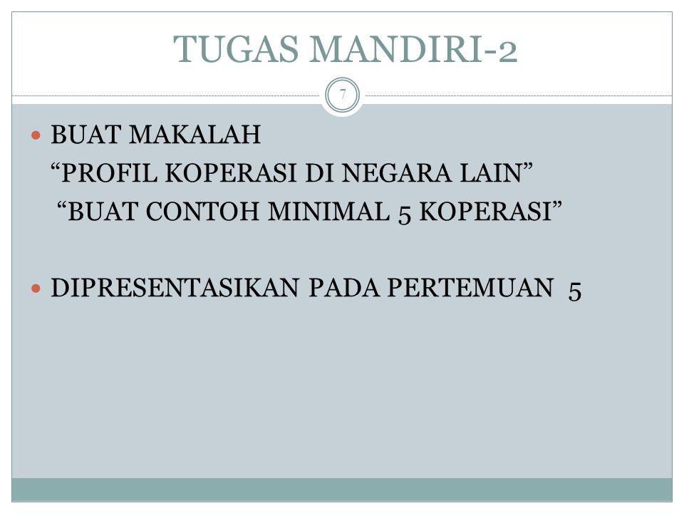TUGAS MANDIRI-2 BUAT MAKALAH PROFIL KOPERASI DI NEGARA LAIN