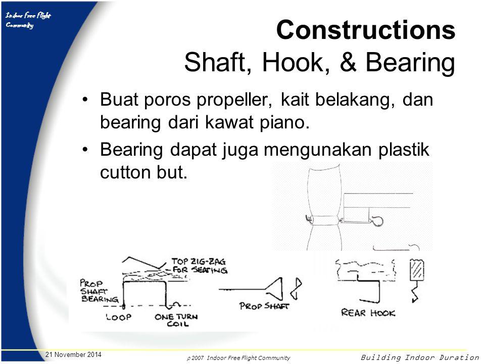 Constructions Shaft, Hook, & Bearing