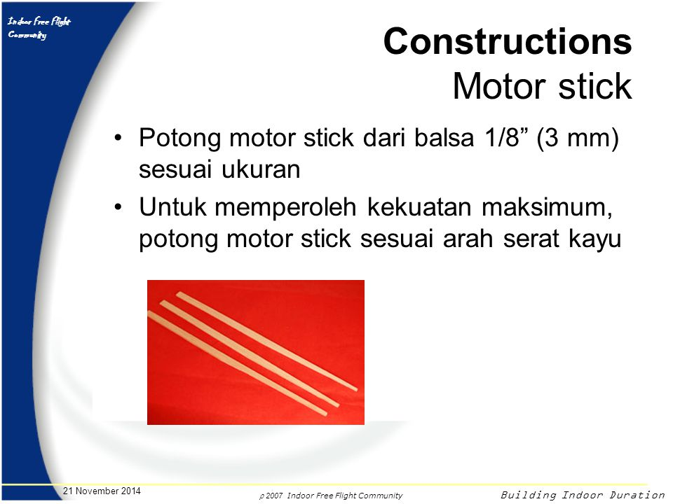 Constructions Motor stick