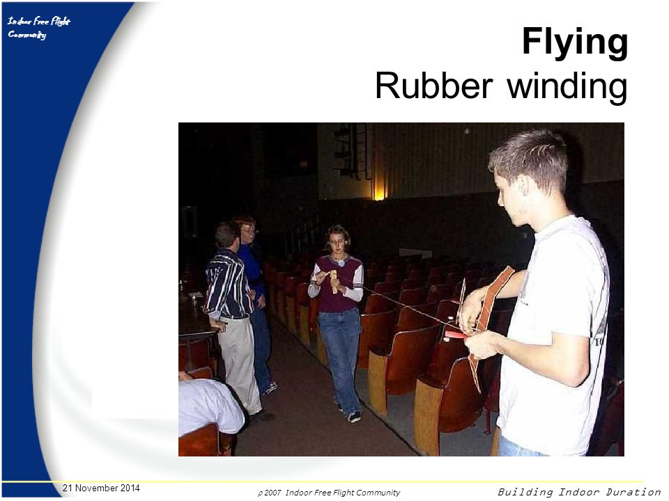 Flying Rubber winding 7 April 2017