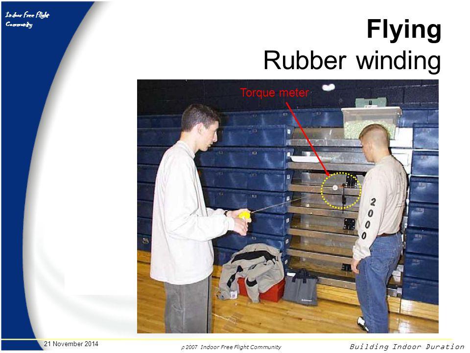 Flying Rubber winding Torque meter 7 April 2017