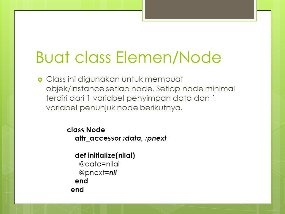 Buat class Elemen/Node