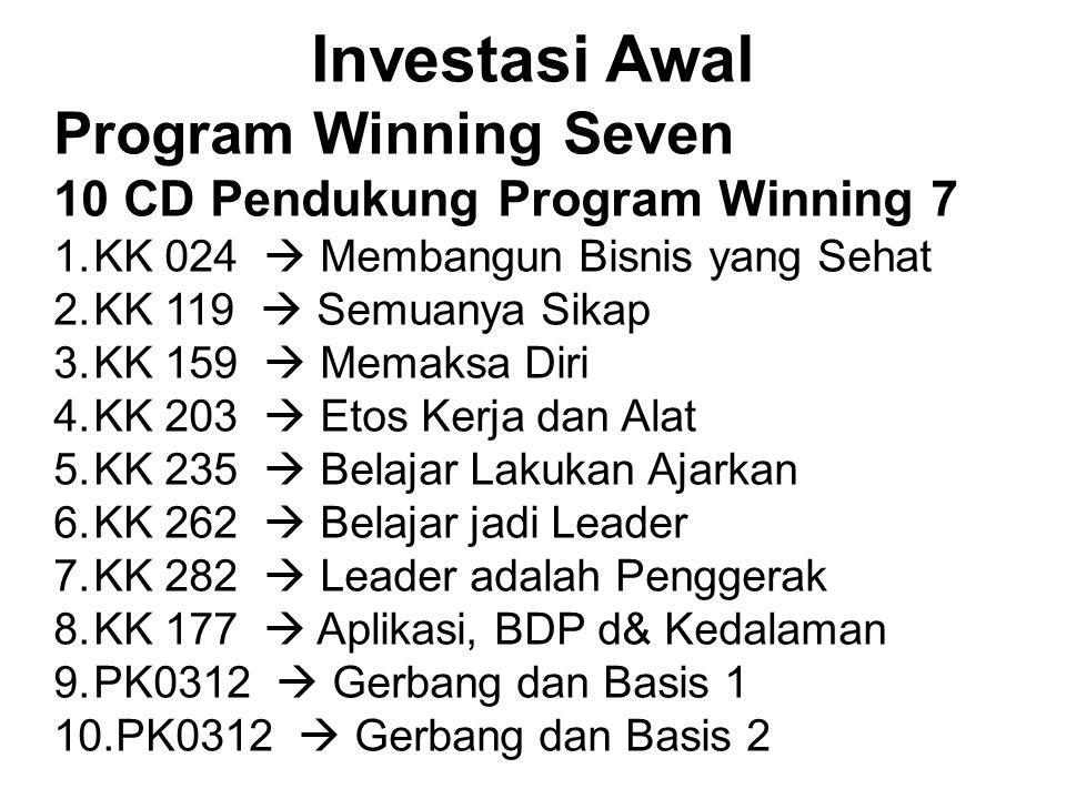Investasi Awal Program Winning Seven 10 CD Pendukung Program Winning 7