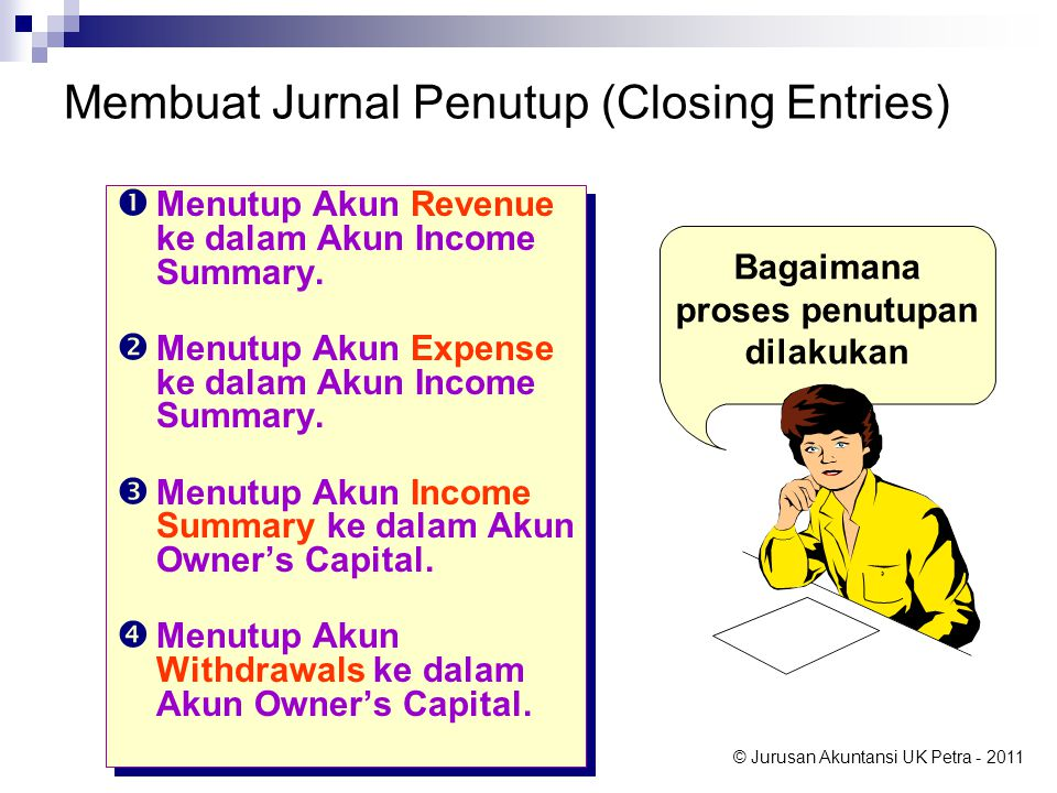 Membuat Jurnal Penutup (Closing Entries)