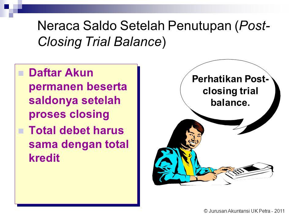 Neraca Saldo Setelah Penutupan (Post-Closing Trial Balance)