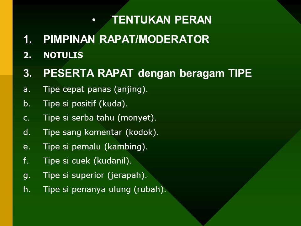 PIMPINAN RAPAT/MODERATOR