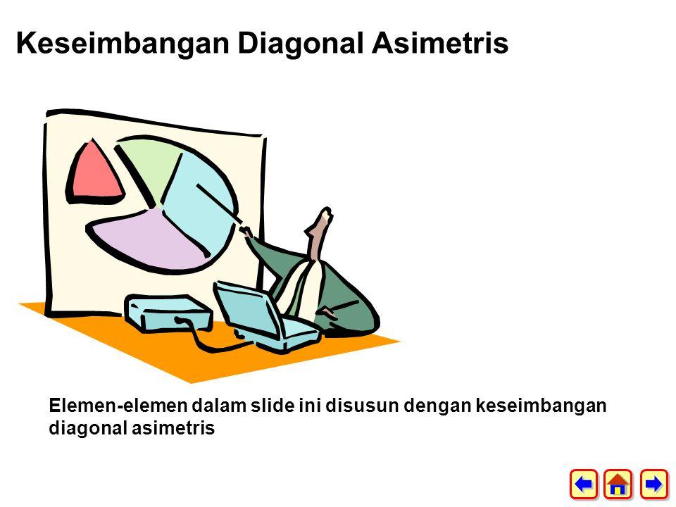 Keseimbangan Diagonal Asimetris
