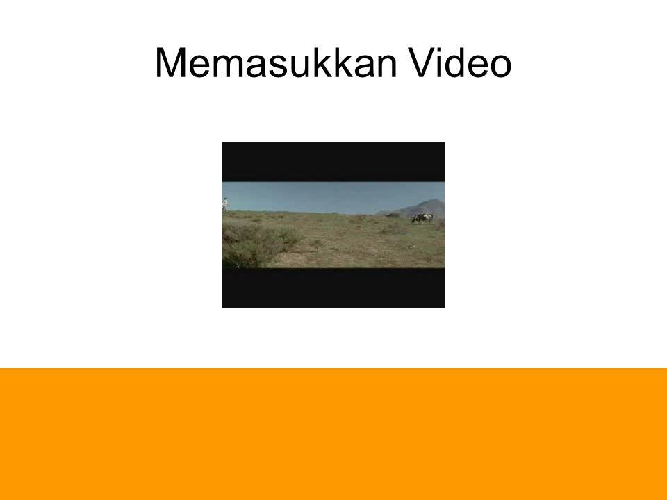 Memasukkan Video Emphasis dengan Movie Klik di area movie