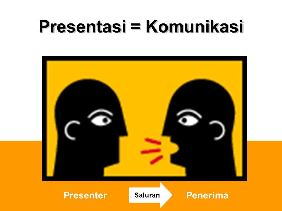 Presentasi = Komunikasi