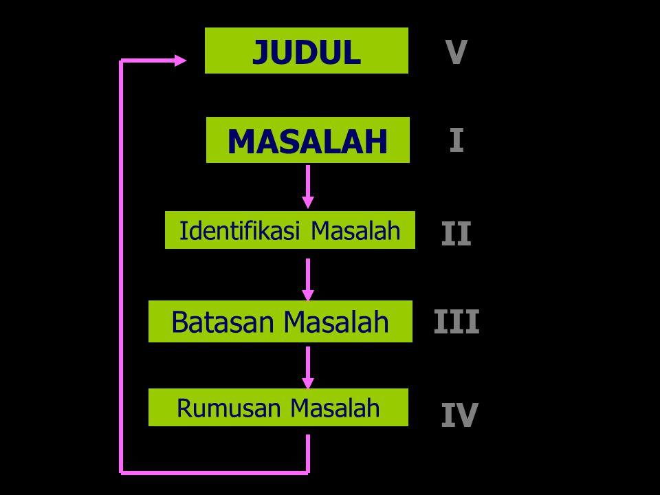 JUDUL V MASALAH I II III IV