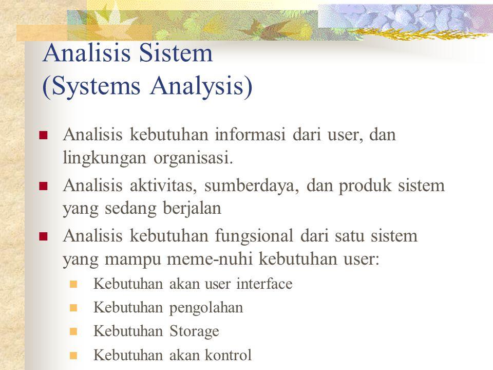 Analisis Sistem (Systems Analysis)