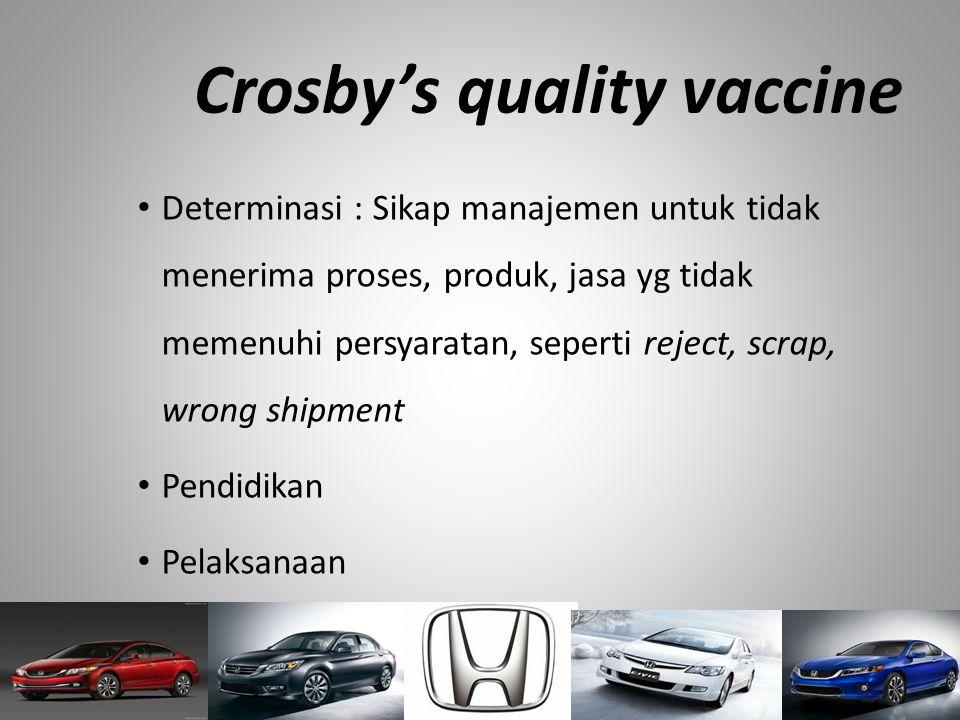 Crosby's quality vaccine