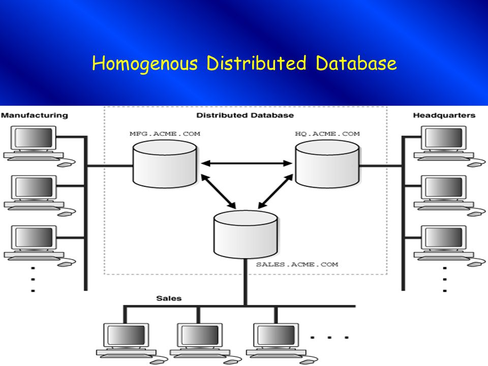 Homogenous Distributed Database