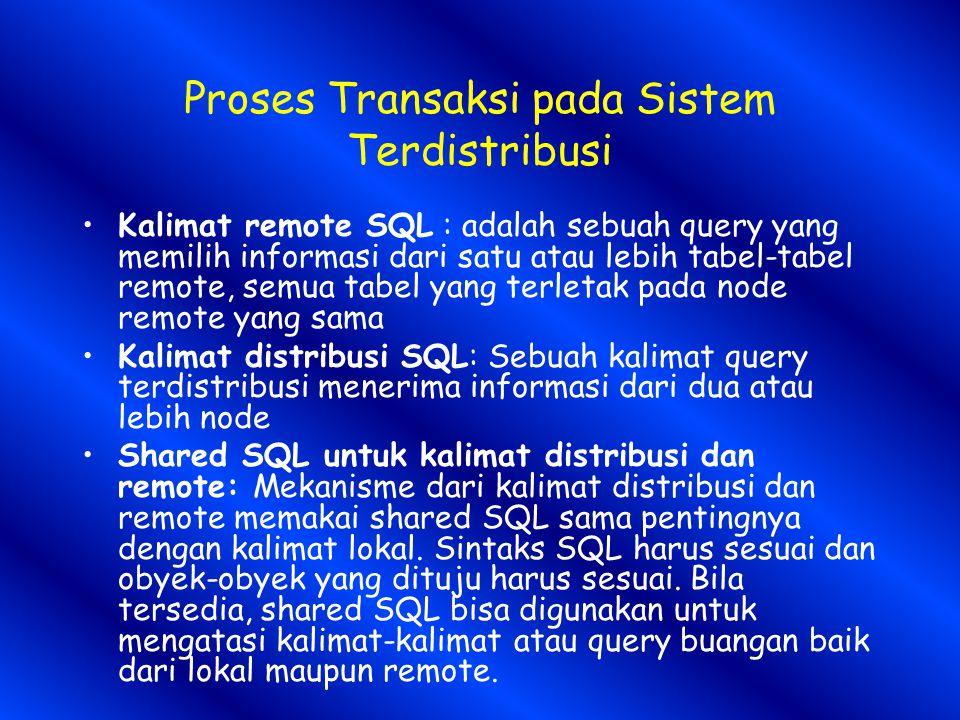 Proses Transaksi pada Sistem Terdistribusi