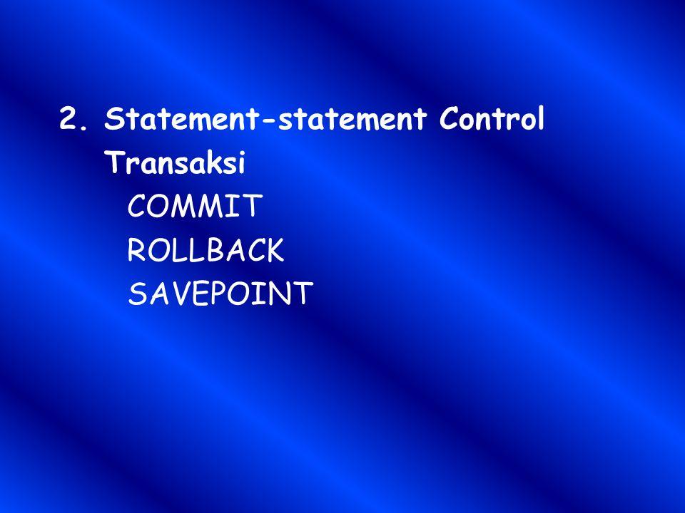 Statement-statement Control