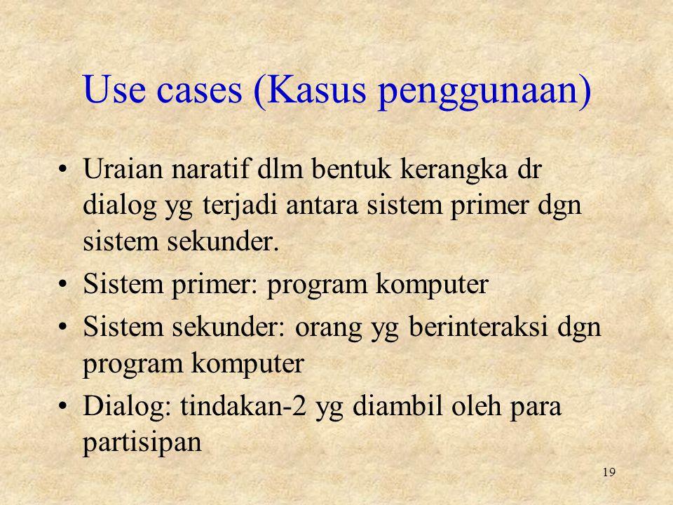 Use cases (Kasus penggunaan)
