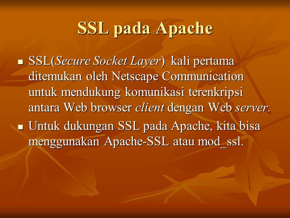 SSL pada Apache