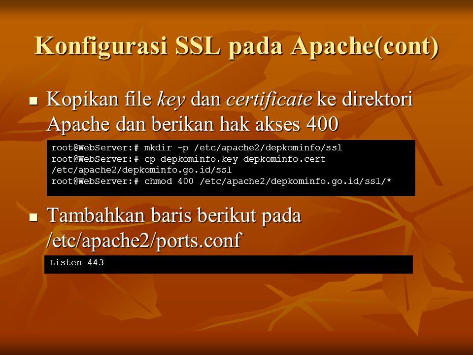 Konfigurasi SSL pada Apache(cont)