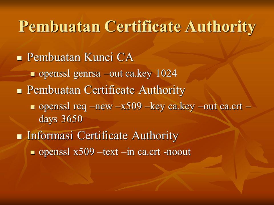 Pembuatan Certificate Authority