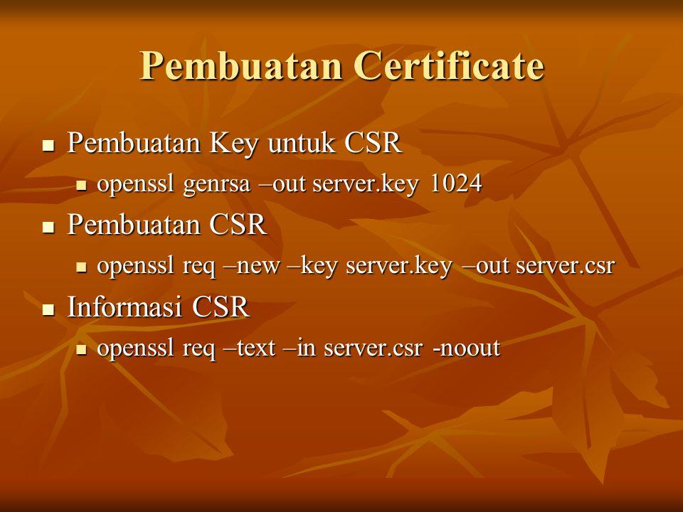 Pembuatan Certificate