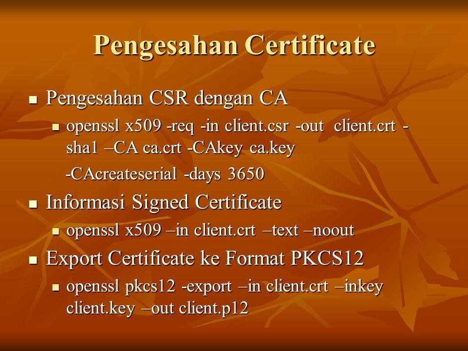 Pengesahan Certificate
