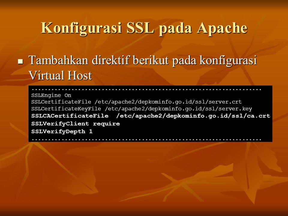 Konfigurasi SSL pada Apache