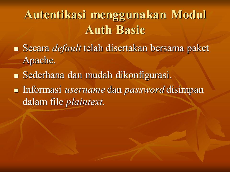 Autentikasi menggunakan Modul Auth Basic