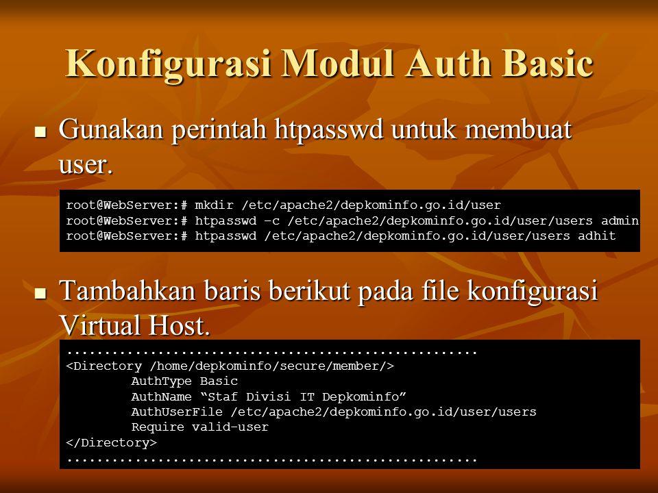 Konfigurasi Modul Auth Basic