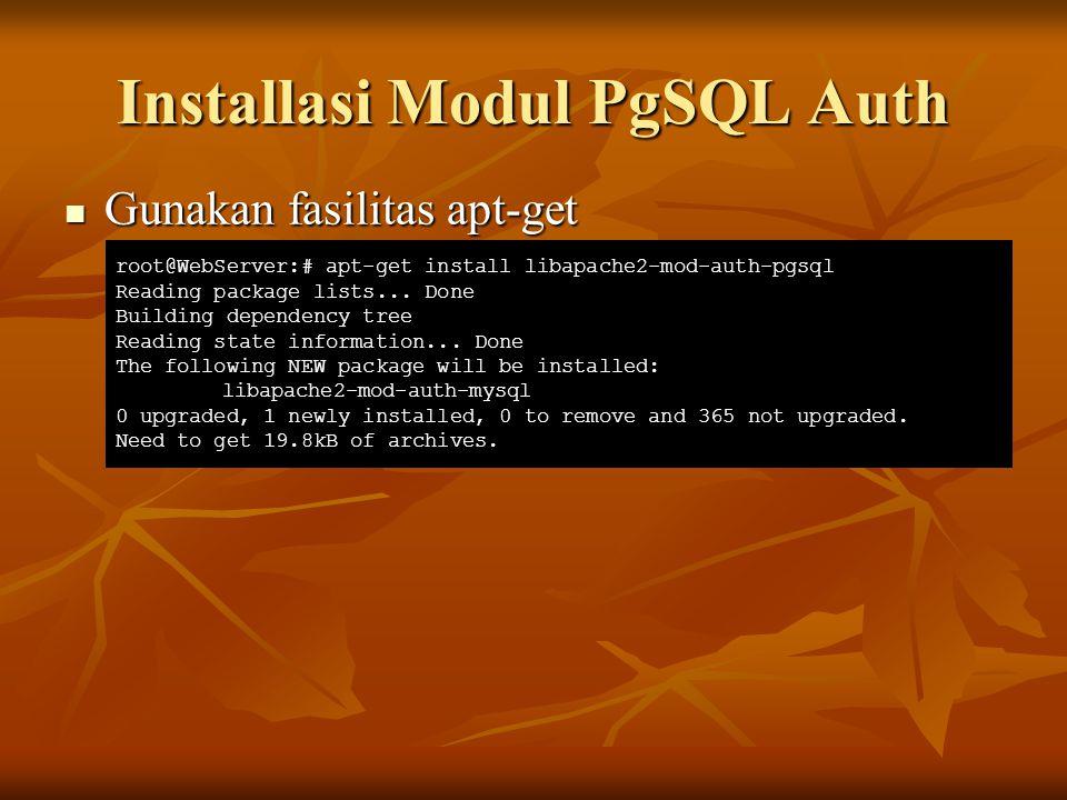 Installasi Modul PgSQL Auth